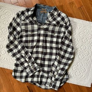 Jachs Girlfriend Buffalo Check Plaid Button Down